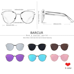 Barcur Polarized Luxury Women Sunglasses - Pink
