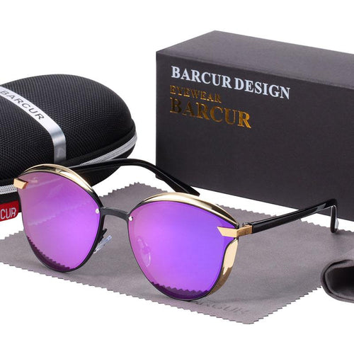 Barcur Polarized Luxury Women Sunglasses - Purple
