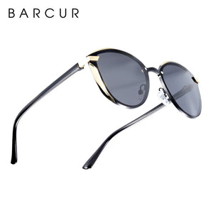 Barcur Polarized Luxury Women Sunglasses - Silver
