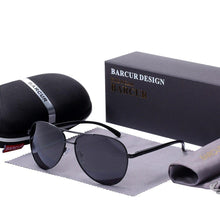 Charger l'image dans la galerie, Barcur Polarized Sunglasses For Men - Black Gray