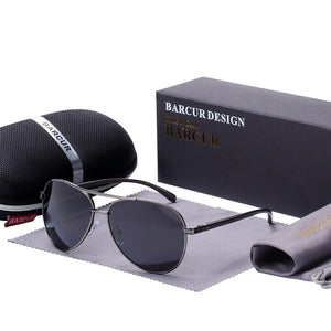 barcur Polarized Sunglasses For Men - Gun Gray