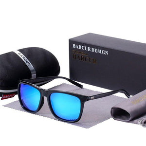 Barcur Polarized Aluminum Sunglasses For Men - Blue