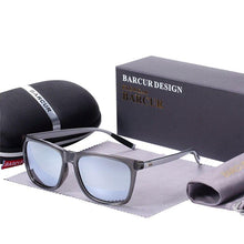 Charger l'image dans la galerie, Barcur Polarized Aluminum Sunglasses For Men - Transparent Silver