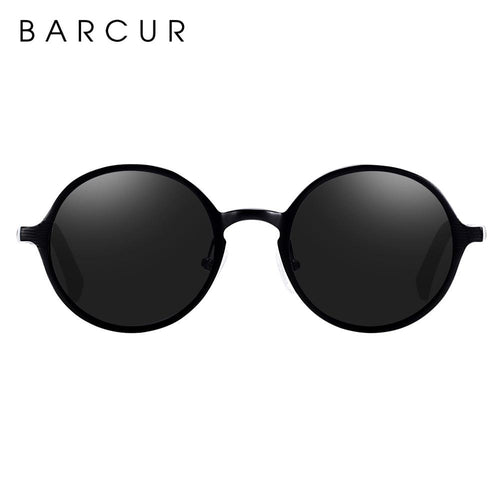 Barcur Black Round Sunglasses - Black Ref-B113