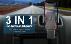 Chargeur de voiture sans fil 3 en 1 support de montage pour Iphone XS MAX XR 8 Plus X Apple Watch Series 4 3 2 Iwatch Airpods Induction