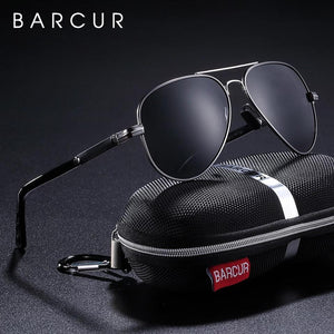 Barcur Polarized Aluminum Sunglasses - Gun Gray