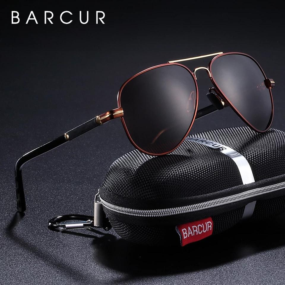 Barcur Polarized Aluminum Sunglasses - Brown
