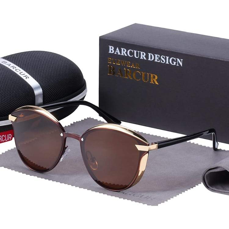 Barcur Polarized Luxury Women Sunglasses - Brown