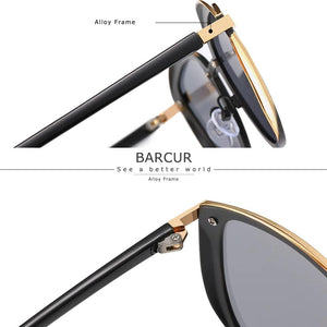 barcur Polarized Sunglasses For Women - Black