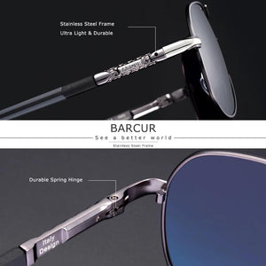 Barcur Polarized Safety Glasses For Driving - Gold Gray