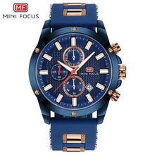 Charger l'image dans la galerie, MINI FOCUS Sports Military Watch Men Quartz Clock Chronograph 3 Dials 6 Hands Multifunction Blue Mens Watches Top Brand Luxury