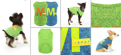 Dog Clothes blue sportwear