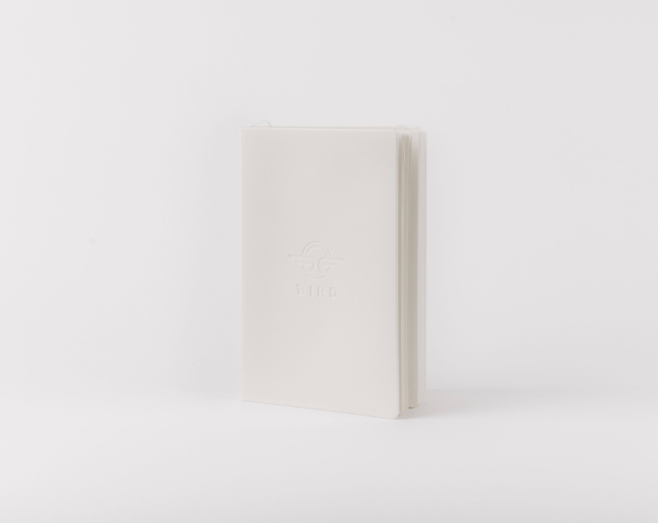 Bird White Notebook