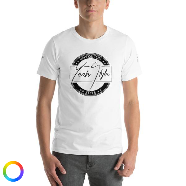 T-shirt manches courtes YeahStyle - Impose ton style - light and red edditions