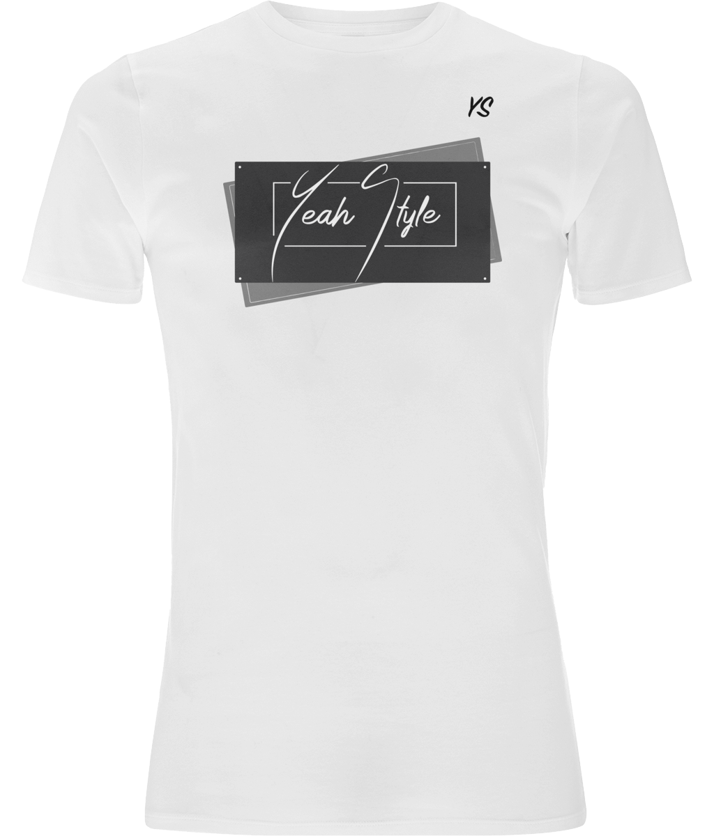T-shirt YeahStyle manches courtes stretch blanc