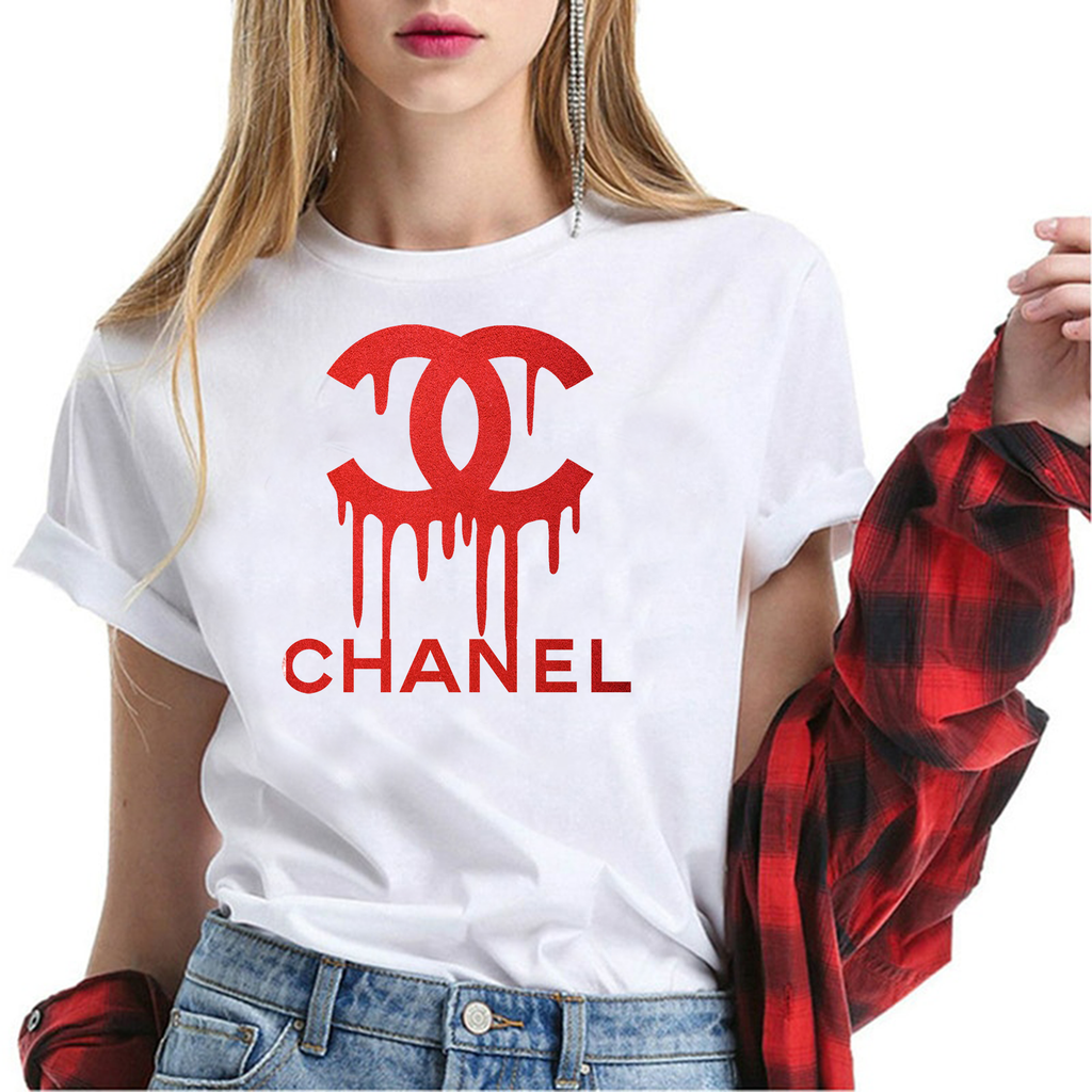 tshirt chanel ;svg chanel red