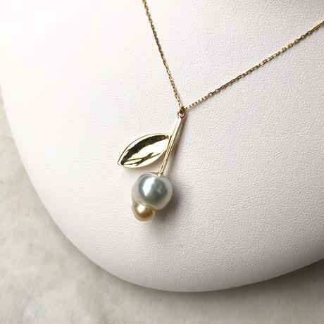 Silver - Tsubomi necklace - M size