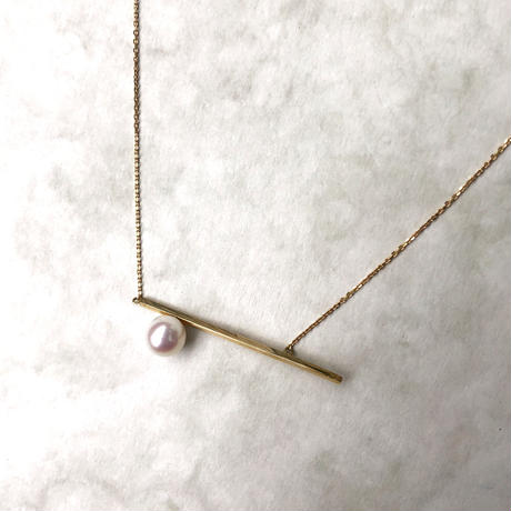 18K - Border line necklace