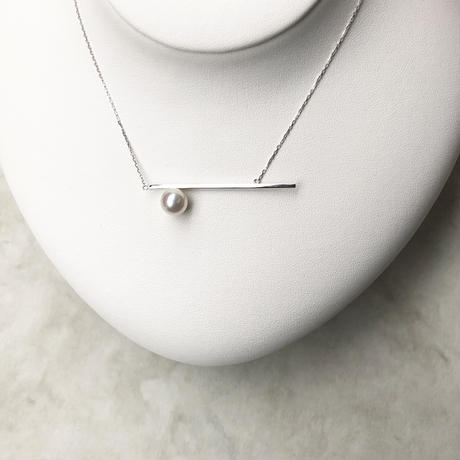 Silver / Border line necklace