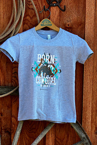 *YOUTH* Born to Cowgirl Grey