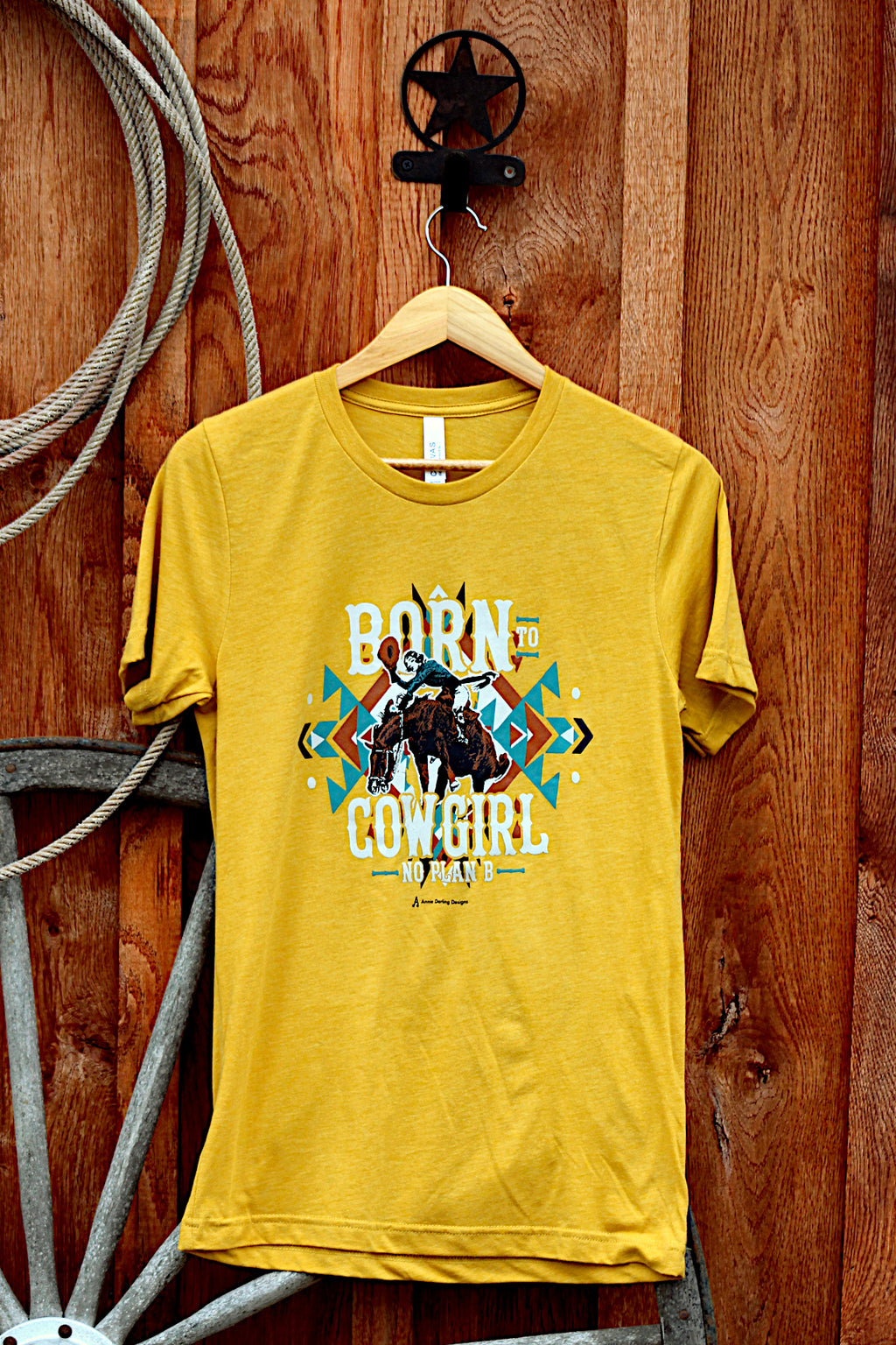Born To Cowgirl Yellow T