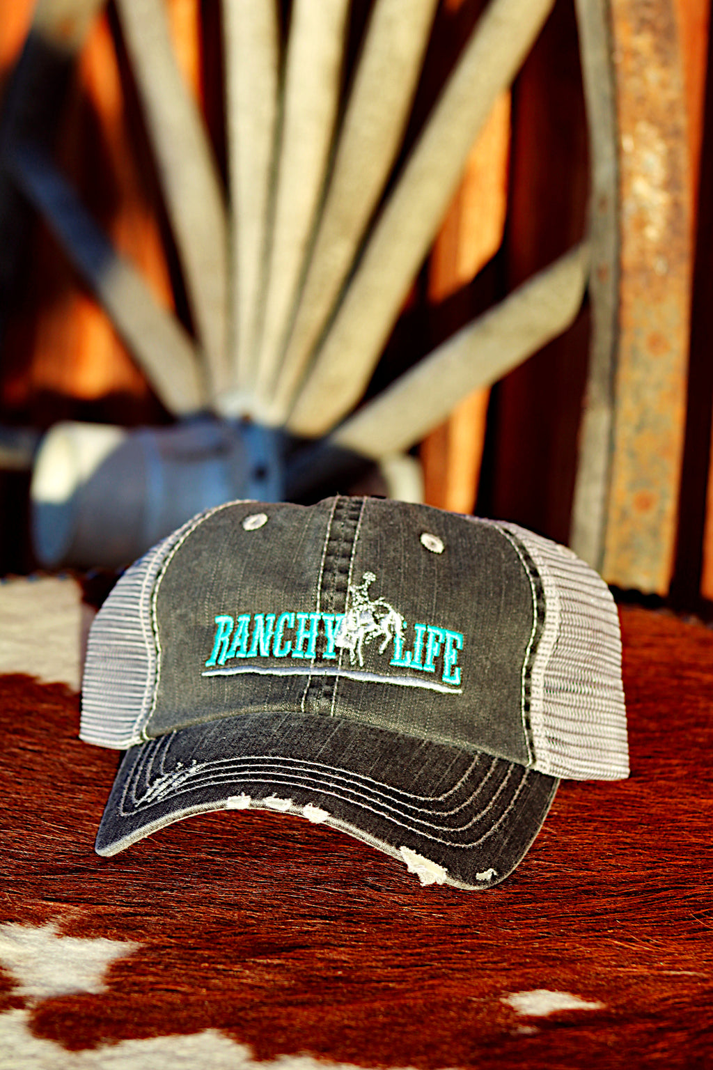 Ranchy Life Bronc Black and Blue Low Crown Cap