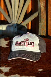 Ranchy Life Windmill Pink, White, and Blue Low Crown Cap