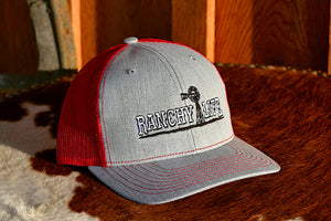 Ranchy Life Red Windmill Snap Back Cap