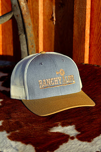 Ranchy Life Yellow and Blue Windmill Snap Back Cap