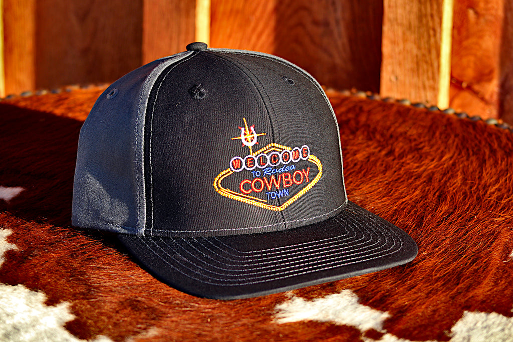 *LIMITED* Welcome Cowboy Black and Grey Snap Back