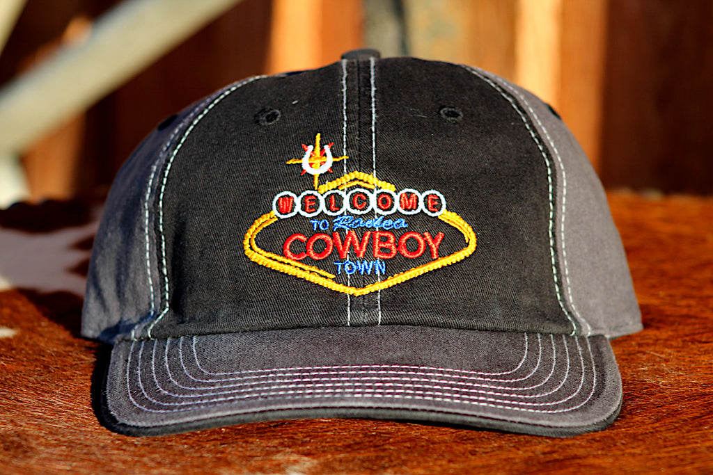 *LIMITED* Welcome Cowboy Black and Grey Low Crown Snap Back