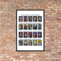 Mysteries of the Rosary Framed Print (Multiple Sizes)