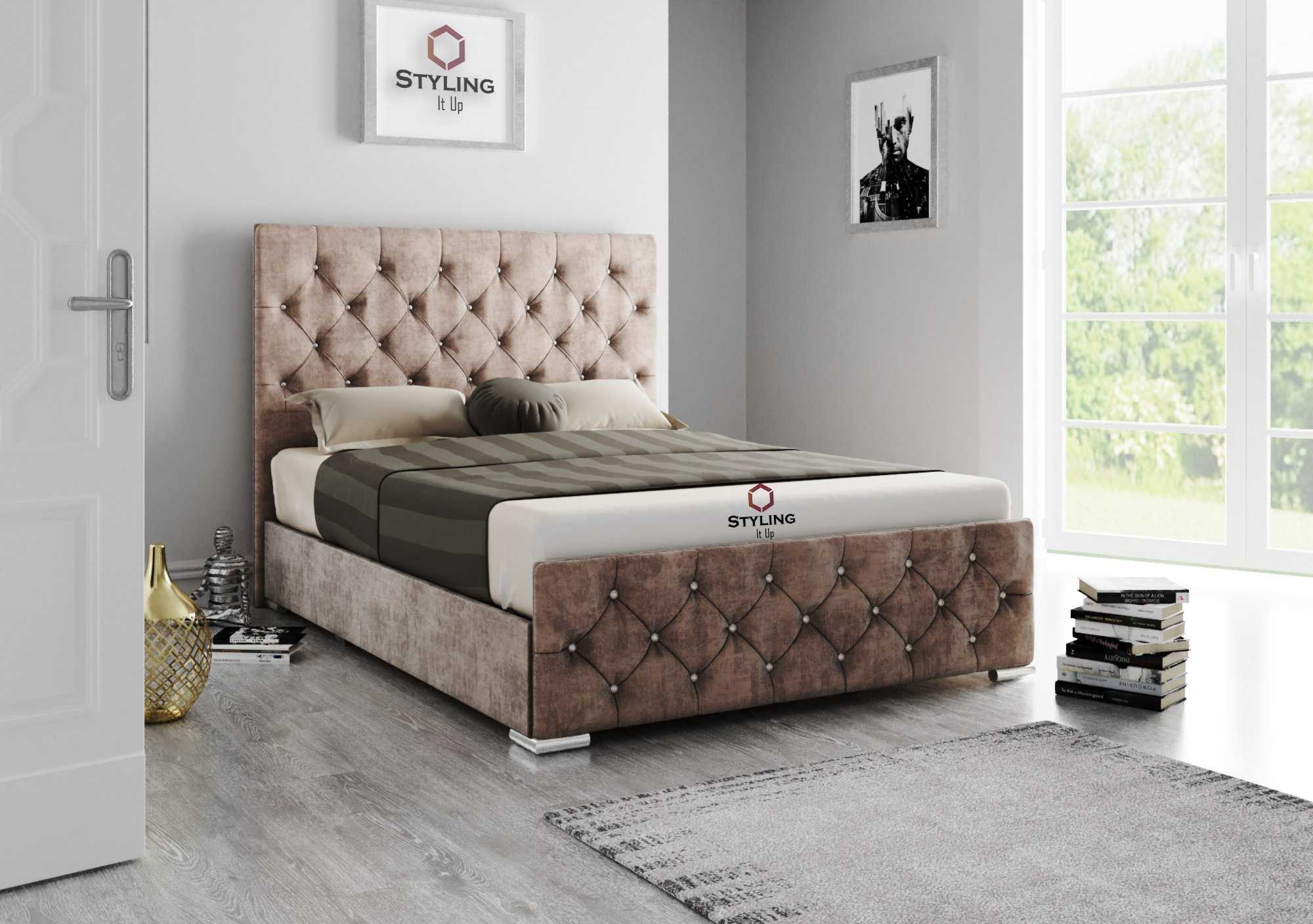Adora Chesterfield Bed