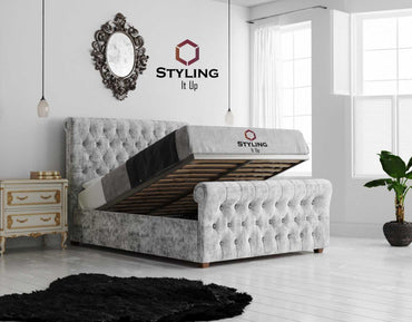 Octavius Chesterfield Sleigh Bed - Styling It Up