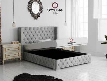 Cameron Designer Winged Bed - Styling It Up