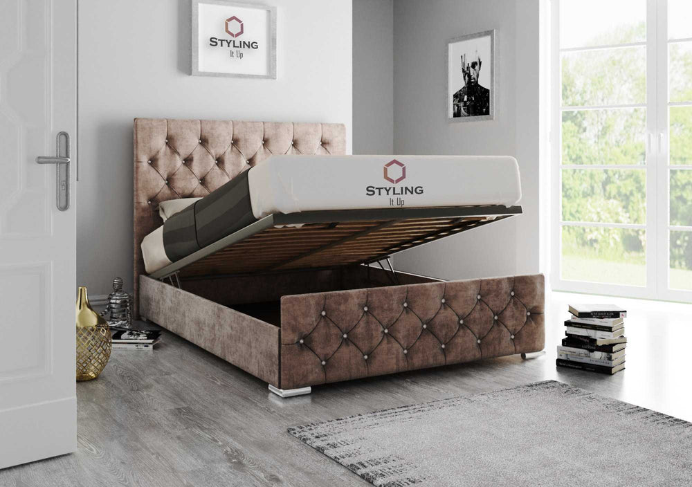 Adora Chesterfield Bed - Styling It Up
