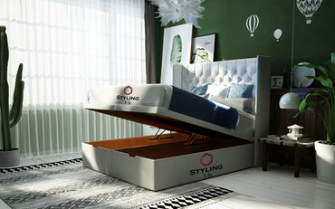 Aria Winged Divan Ottoman Bed - Styling It Up