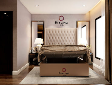 Claude Tall Headboard Ottoman Storage Bed - Styling It Up