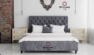 Lux Chesterfield Sleigh Bed - Styling It Up