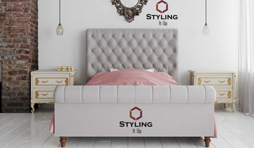 Cassia Chesterfield Sleigh Bed - Styling It Up