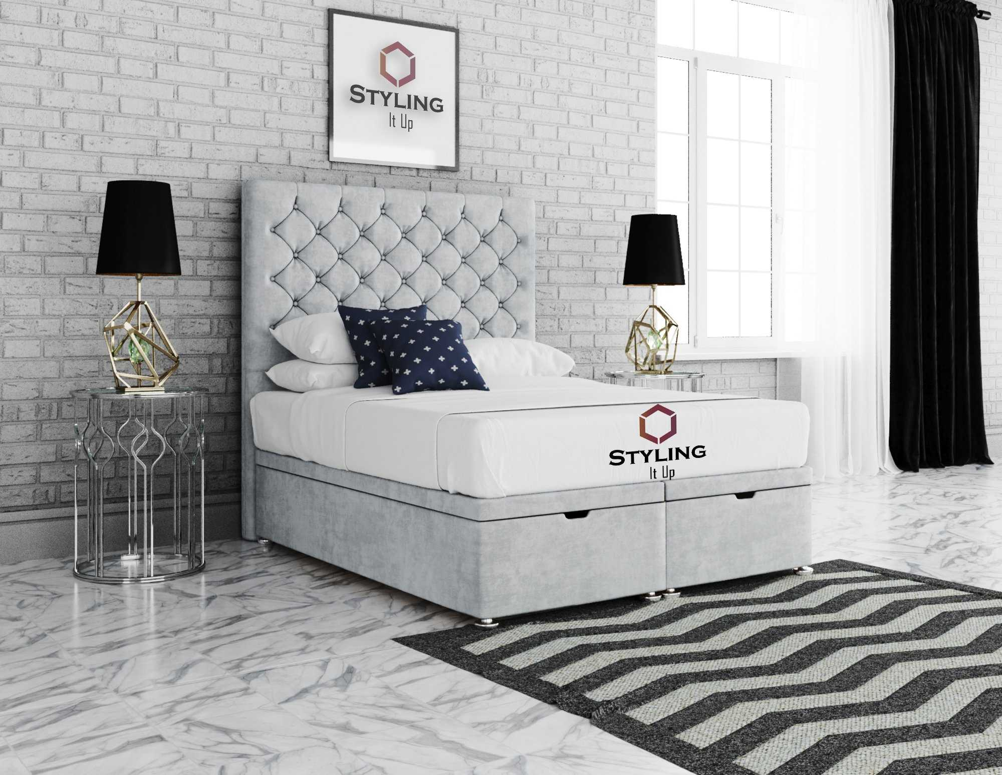 Anona Chesterfield Divan Ottoman Bed - Styling It Up