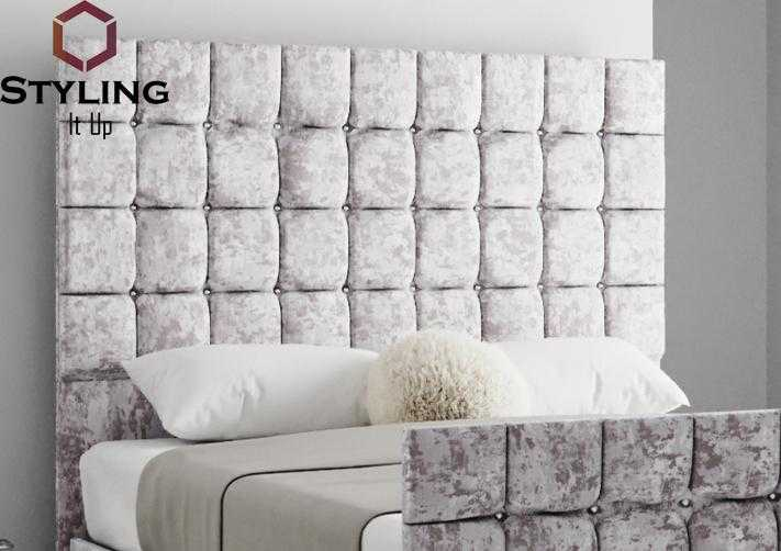 Caesar Cubed Upholstered Headboard - Styling It Up