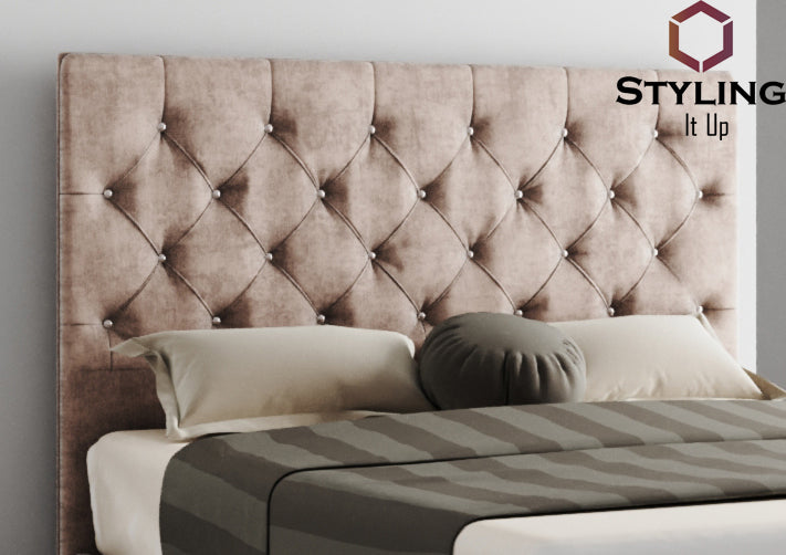 Adora Chesterfield Upholstered Headboard - Styling It Up