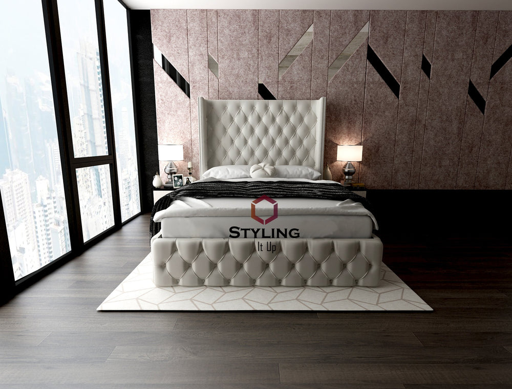 Kayla Winged Designer Bed - Styling It Up