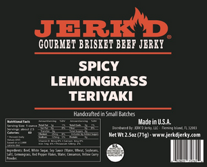 Spicy Lemongrass Teriyaki Beef Jerky
