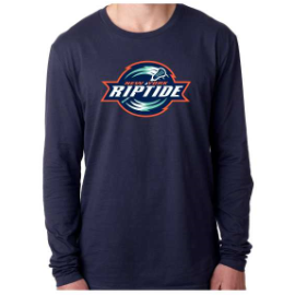 Next Level Men's Navy Primary Logo Long Sleeve Crew Tee