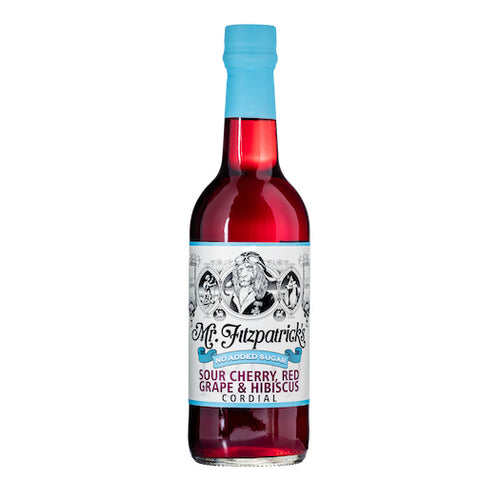 Mr Fitz Sour Cherry, Red Grape & Hibiscus No Added Sugar Cordial