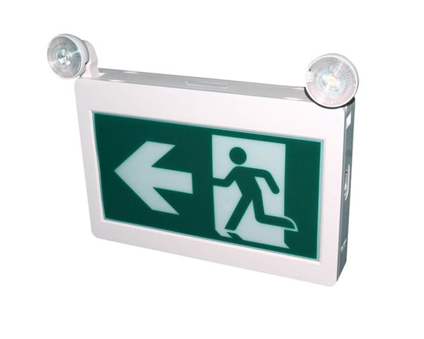 LED Exit Sign & Emergency Light Combo