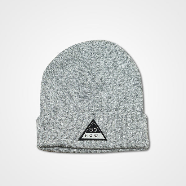 Triangle Beanie - Heather Grey