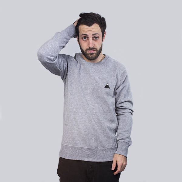 THE MONT BLANC RAGLAN SWEAT, ATHLETIC GREY - PREMIUM SUPERSOFT COTTON